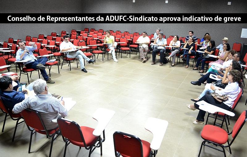 Conselho de Representantes da ADUFC-Sindicato aprova indicativo de greve