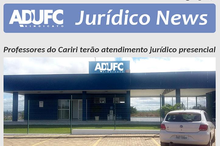 Professores do Cariri terão atendimento jurídico presencial