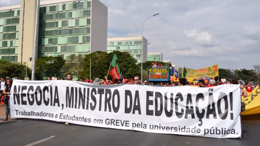 Manifestação dos docentes em Brasilia