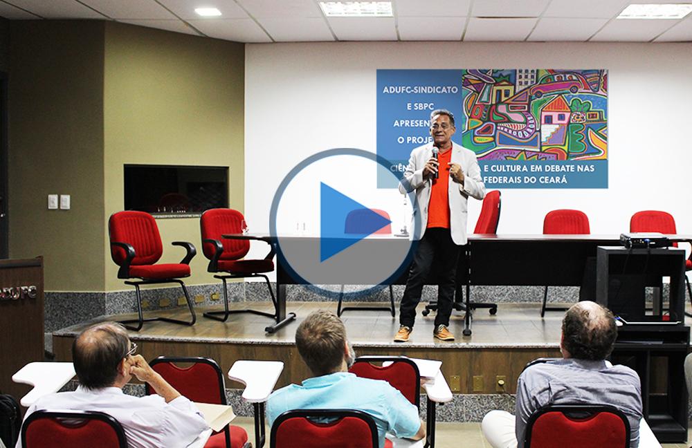 "Palestra ""Ética na Ciência"", com Prof. Tarcísio Pequeno"