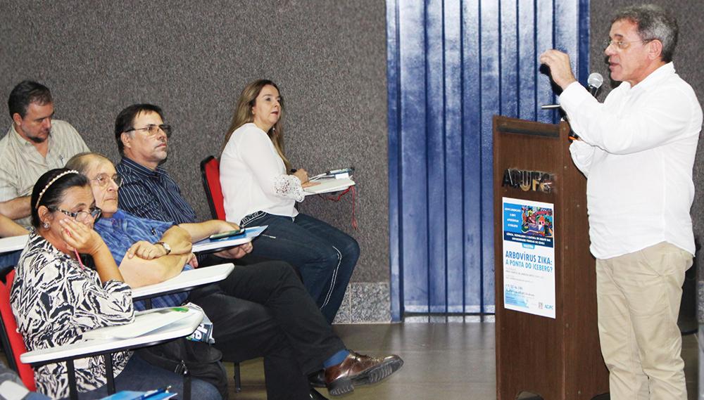 Especialista da USP ministra palestra sobre Arbovírus Zika na ADUFC-Sindicato