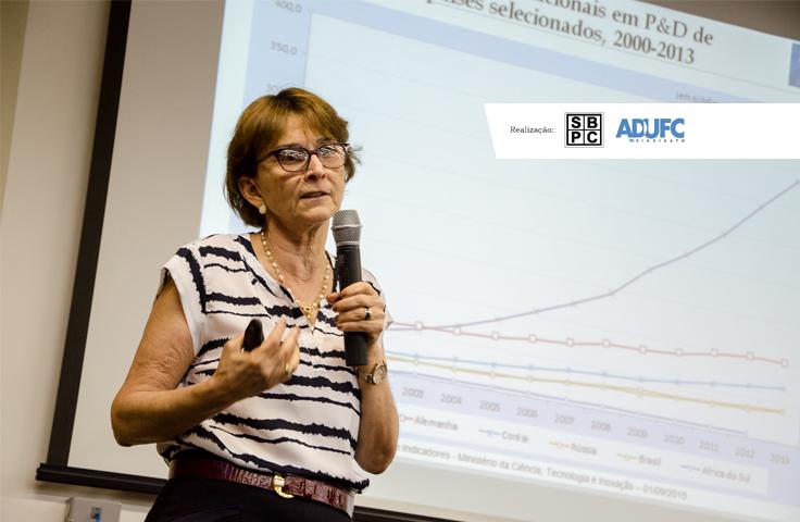 """[Ao Vivo] Acompanhe a palestra """"Marco Legal de Ciência, Tecnologia e Inovação"""", com Helena Nader (Presidente da SBPC)"""