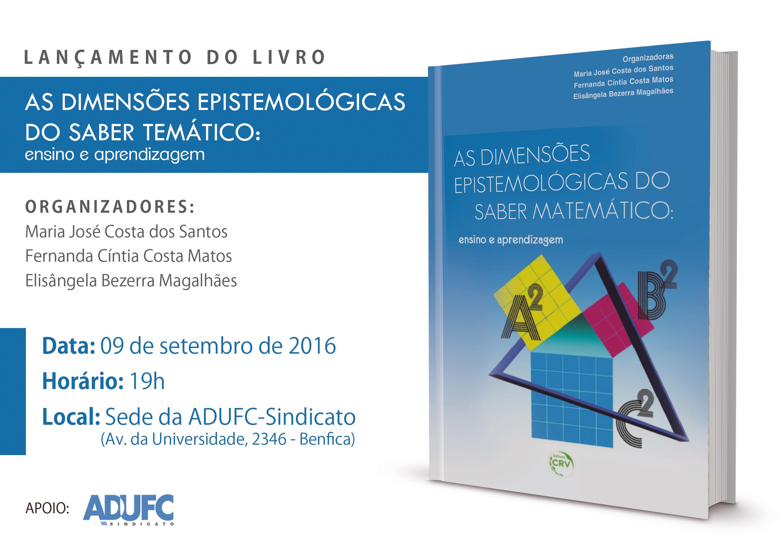 """Convite – Lançamento do livro """"As dimensões epistemológicas do saber temático: ensino e aprendizagem"""""""