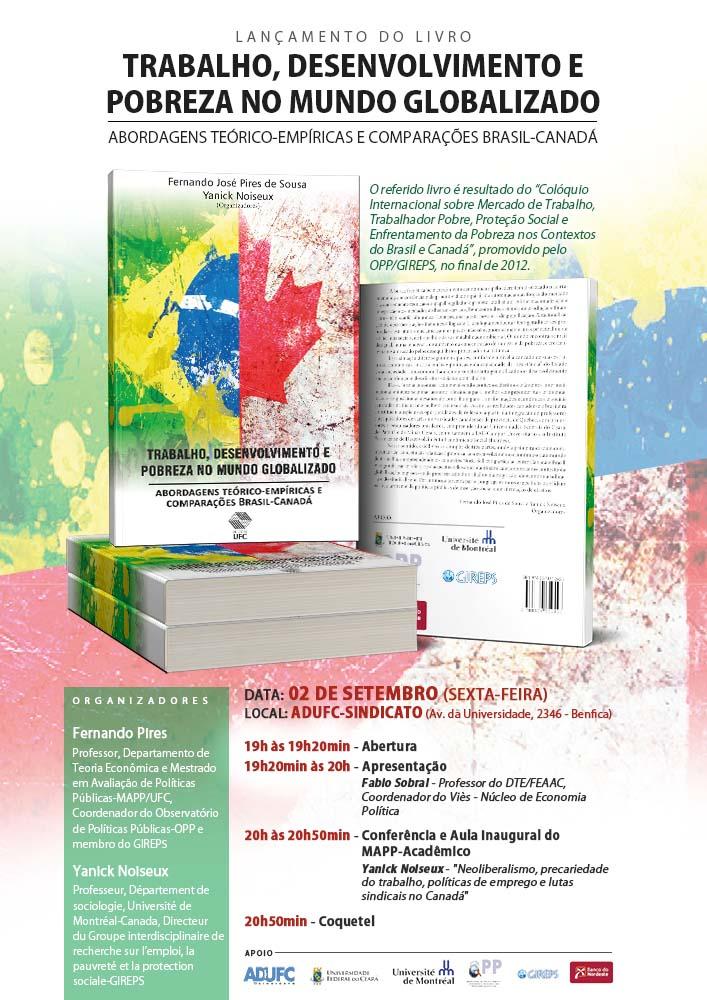 """Convite – Lançamento do livro """"Trabalho, desenvolvimento e pobreza no mundo globalizado"""""""